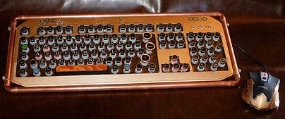 tesla steampunk keyboard