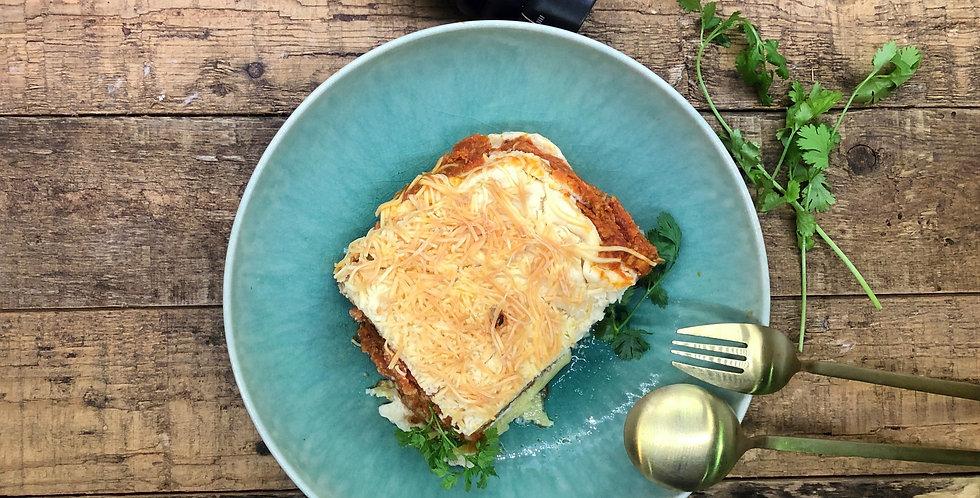 Lasagne kurkuma & spinazie voor kids