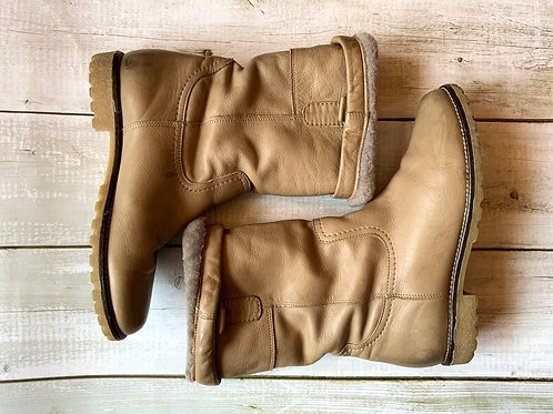 FRANCHETTI BOND LEATHER/SHEEPSKIN BOOTS