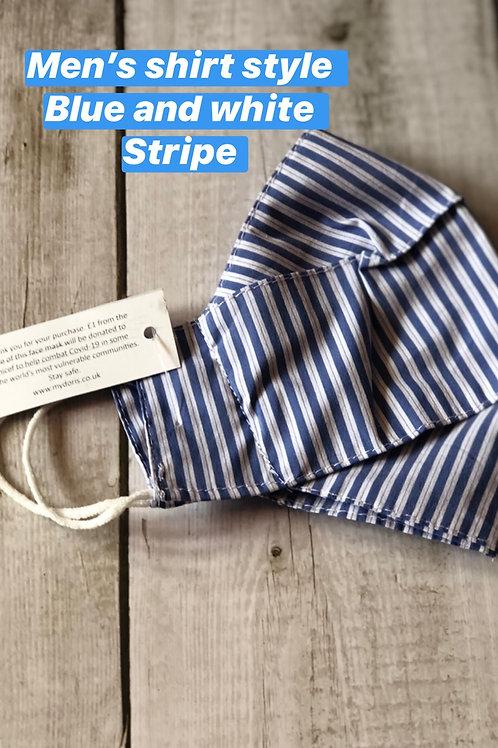 Blue stripe UNICEF face mask