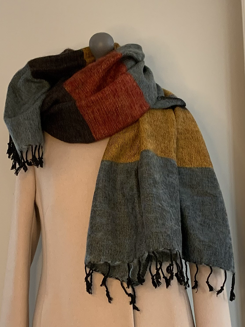 The Curious Yak Kingfisher Scarf