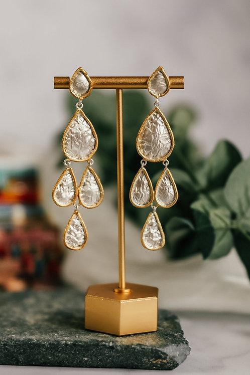 Fabulous multi teardrop earrings