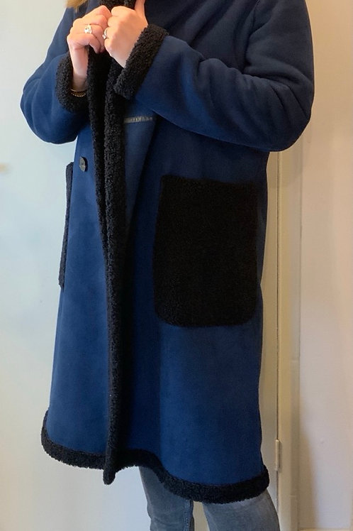 ZARA WOMAN Faux Shearling coat
