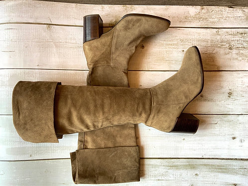 Russel and Bromley suede knee boots