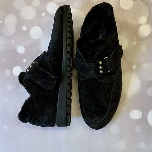 RUSSELL AND BROMLEY SHEARLING LINED LOAFERS
