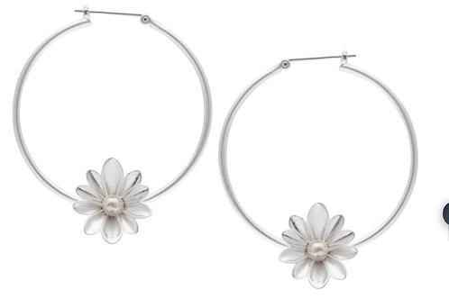 SENCE COPENHAGEN COUTURE sweet daisy hoop earrings