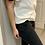 Thumbnail: VICTORIA BECKHAM winter white and black petal sleeve top