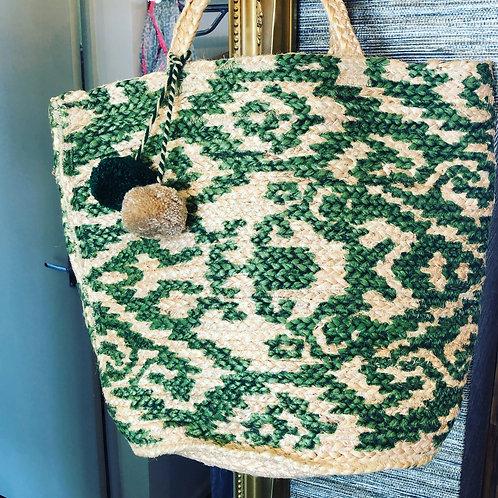 Natural straw beach bag NEW