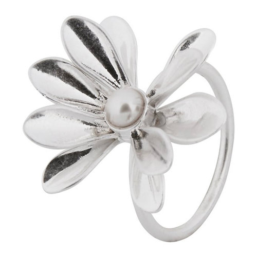 SENCE COPENHAGEN  COUTURE Sweet Daisies Pearl Ring in Silver