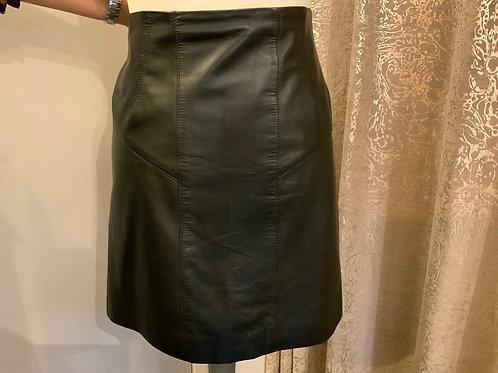 Jigsaw leather mini skirt size 12