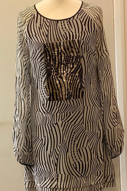 TED BAKER monochrome dress