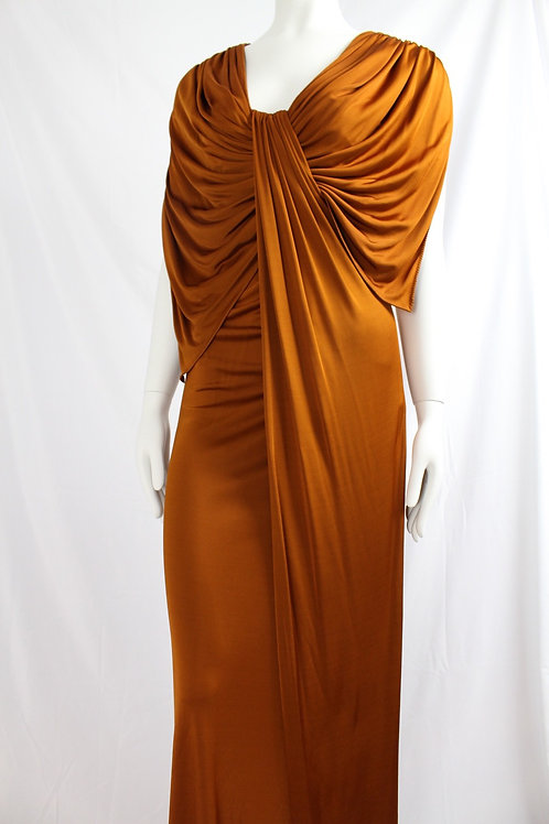 Amanda Wakely copper evening dress