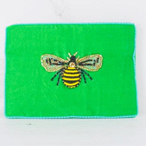Beautiful Bee green purse