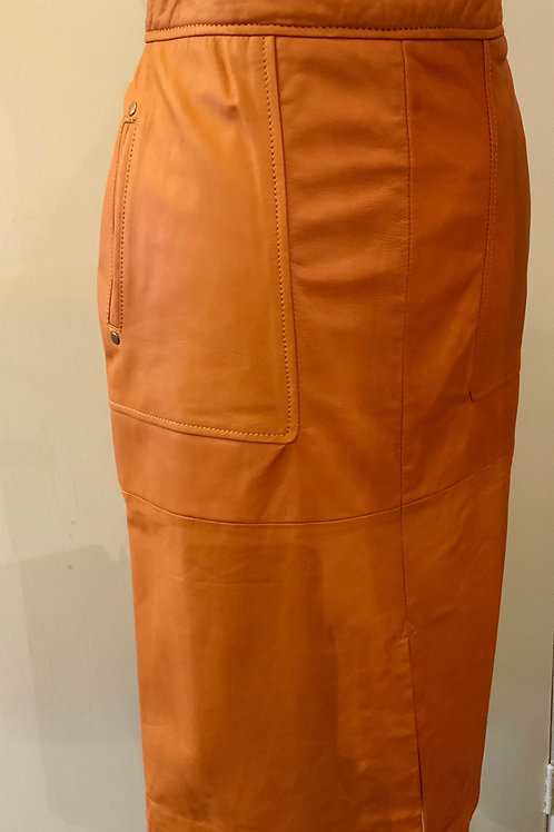 SOAKED LEATHER SKIRT
