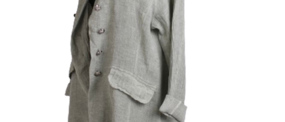 ITALIAN VINTAGE WASHED LAGENLOOK TRENCH COAT SIZE 10-16
