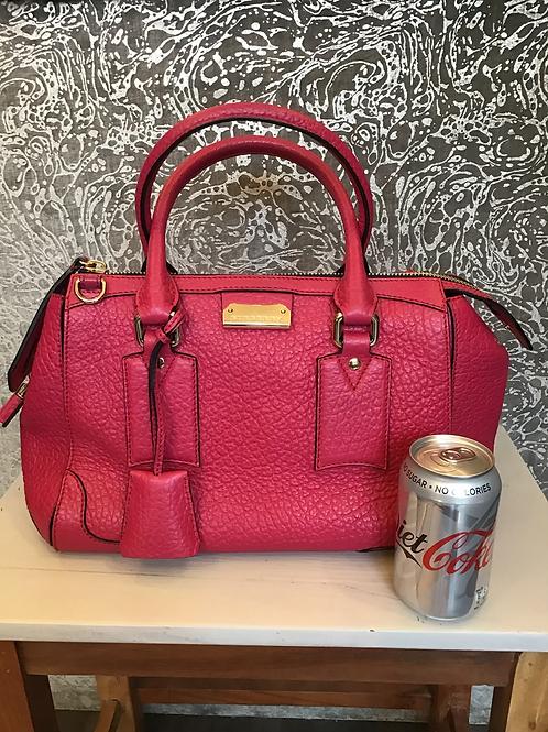 Burberry grained leather handbag