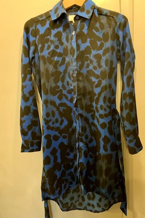 DANCING LEOPARD SHIRT DRESS XS