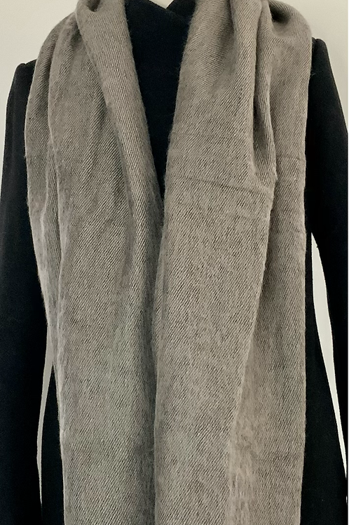 The Curious Yak Taupe mix scarf
