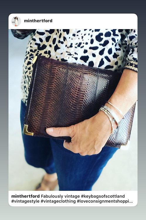 Keybags  of Scotland vintage bag leather & snake