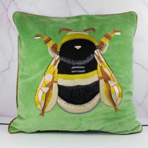 Fabulous Green Bee cushion