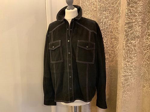 Monoprix suede black jacket