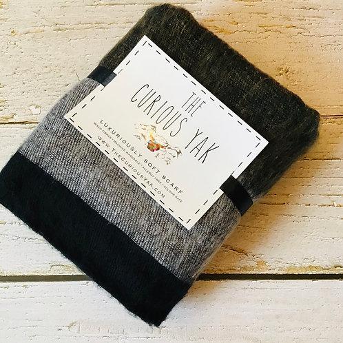 Curious Yak Black & Grey scarf