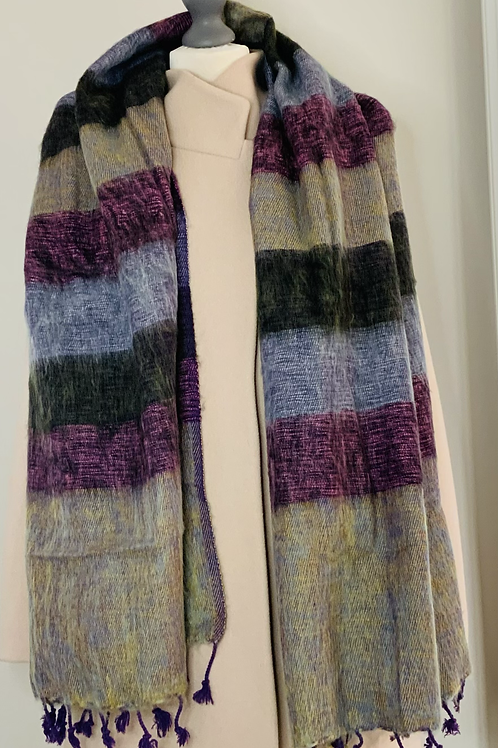 'The Curious Yak Amethyst Scarf