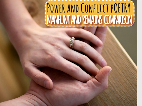 Power and Conflict Poetry: Manhunt and Remains Comparison