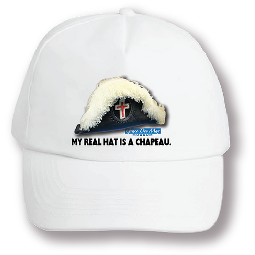 """""""My Real Hat is a Chapeau"""" Ball Cap"""