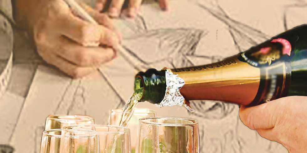 Champagne Sketching at the Museum