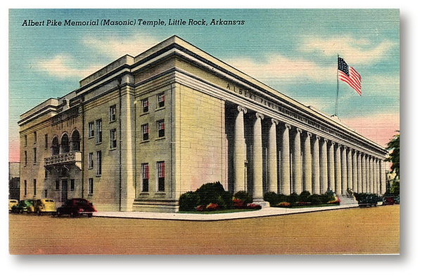 Alb. Pike Memorial Masonic Temple, Littl