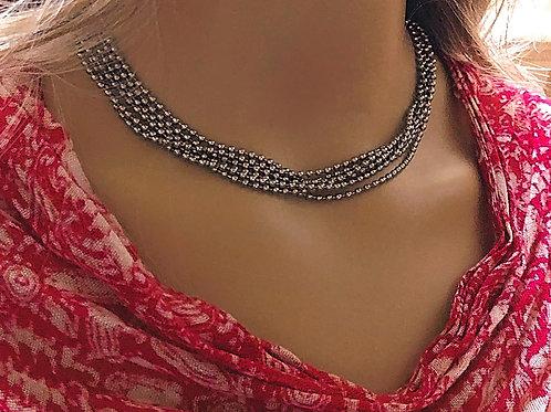 Multi Strand Ball Chain Necklace
