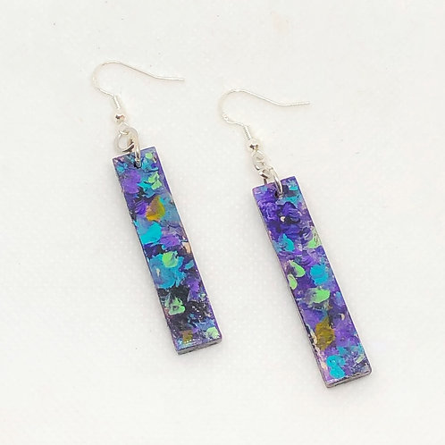 Painted Bar Earrings