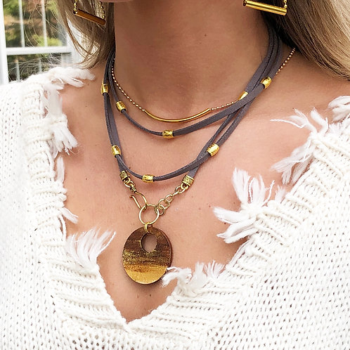 Clarity Gold Wrap Necklace