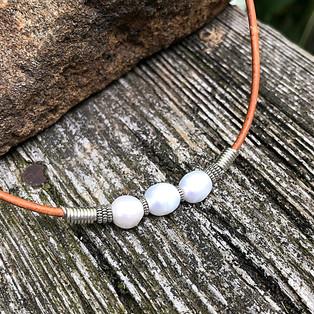 Triple Pearl Choker Necklace