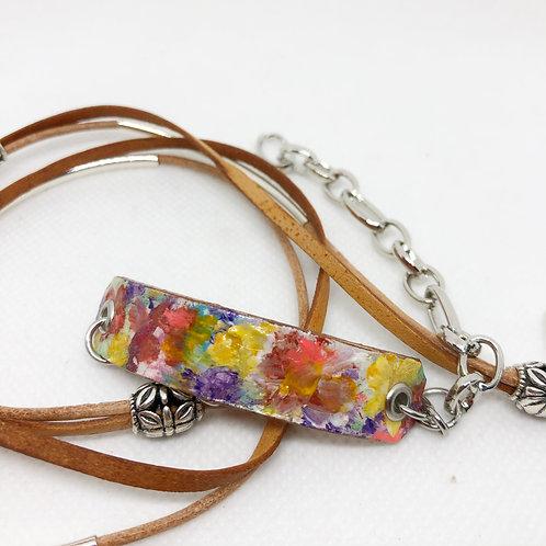 Cherish Leather Wrap Bracelet