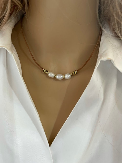 Simply Pearl Necklace Gold