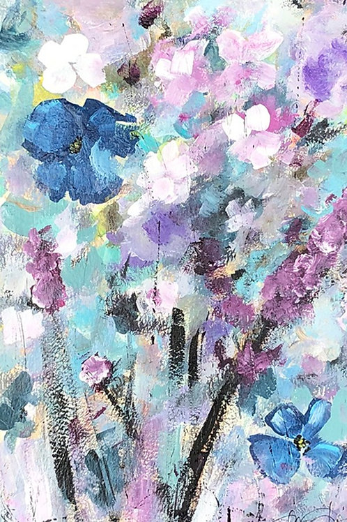 Blue Flax and Lilacs No. 1