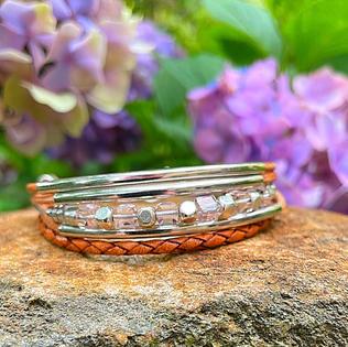 Blush Glass Bracelet