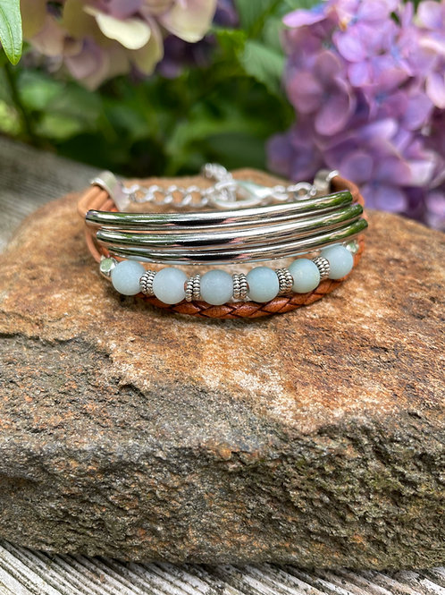 Celadon Pearl Multi-strand Bracelet
