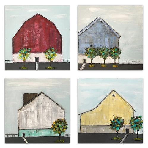 Must Love Barns Set of 4