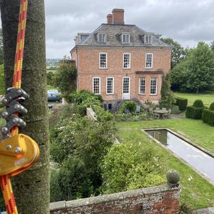 Shropshire mansion ariel veiw