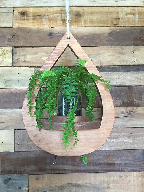 Timber Hanging Planter Teardrop