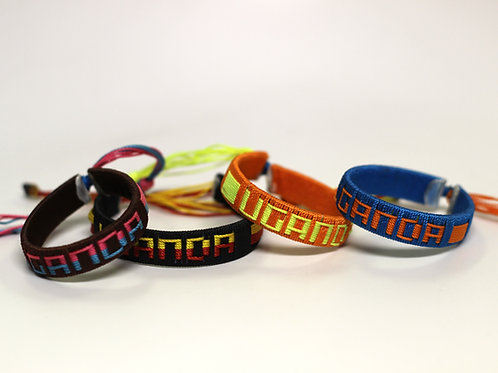 "Hand-Stitched ""UGANDA"" Bracelet"
