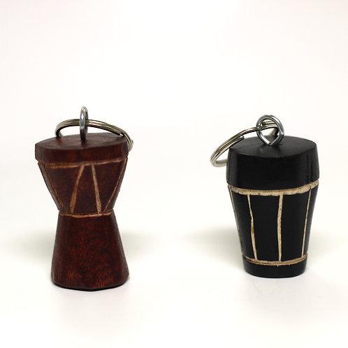 Hand-Carved Drum Keychain