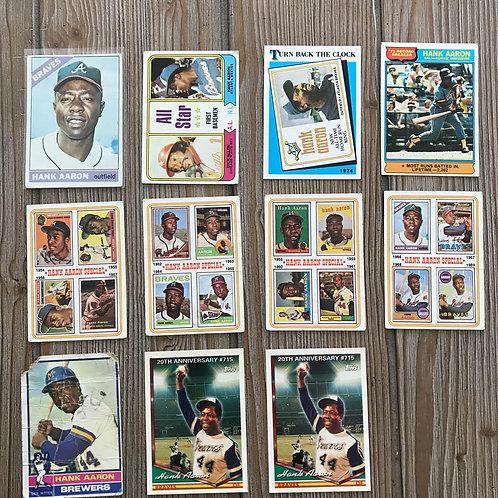 Lot of Hank Aaron Cards