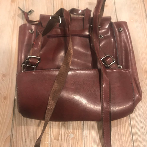 Brown Leather Backpack/Purse