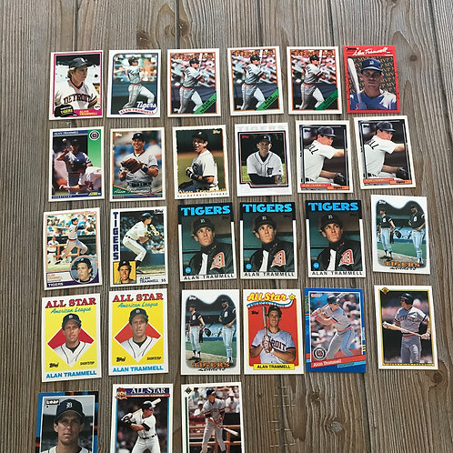 Lot of Alan Trammell Cards