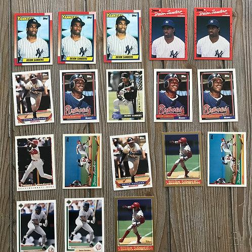 Lot of Deion Sanders Cards