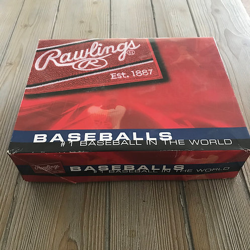 New Rawlings Leather Baseballs